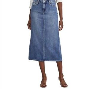 Lauren Ralph Lauren Lived-In Cotton Denim Skirt